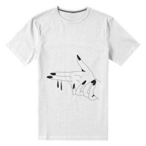 Męska premium koszulka Palce z pistoletem