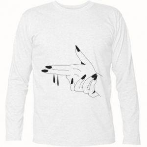 Koszulka z długim rękawem Palce z pistoletem