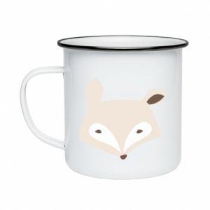 Kubek emaliowany Pale fox