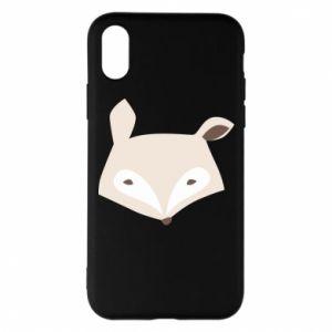 Etui na iPhone X/Xs Pale fox