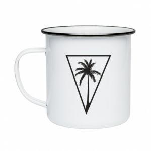 Kubek emaliowane Palm in the triangle