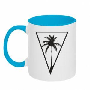 Kubek dwukolorowy Palm in the triangle