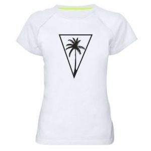 Damska koszulka sportowa Palm in the triangle