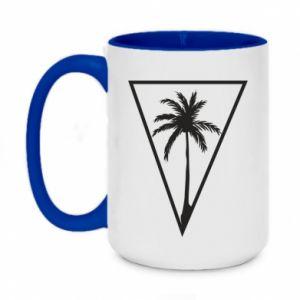 Kubek dwukolorowy 450ml Palm in the triangle