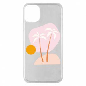 Etui na iPhone 11 Pro Palmy o zachodzie słońca