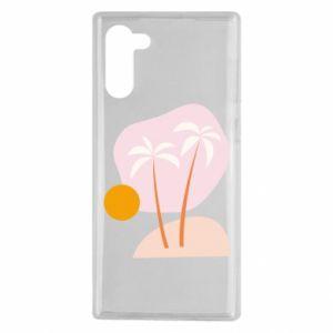 Etui na Samsung Note 10 Palmy o zachodzie słońca