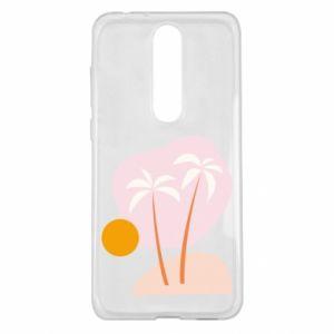 Etui na Nokia 5.1 Plus Palmy o zachodzie słońca