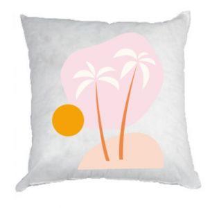 Poduszka Palmy o zachodzie słońca