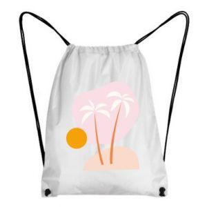 Plecak-worek Palmy o zachodzie słońca