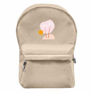 Plecak z przednią kieszenią Palmy o zachodzie słońca