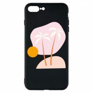 Etui na iPhone 8 Plus Palmy o zachodzie słońca
