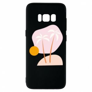 Etui na Samsung S8 Palmy o zachodzie słońca