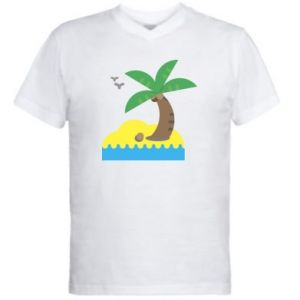 Men's V-neck t-shirt Palm