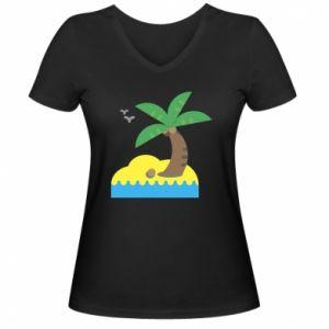 Damska koszulka V-neck Palma