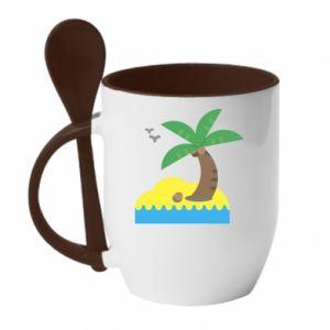 Kubek z ceramiczną łyżeczką Palma