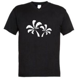 Męska koszulka V-neck Palmy