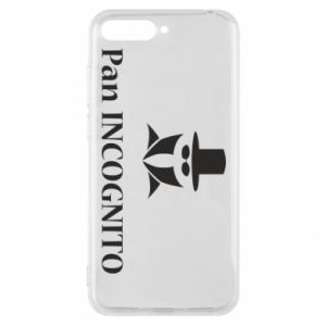 Phone case for Huawei Y6 2018 Mr INCOGNITO