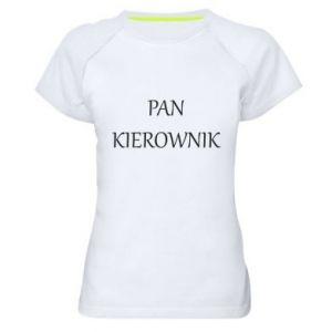 Damska koszulka sportowa Pan kierownik
