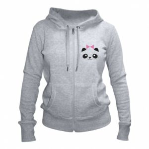 Women's zip up hoodies Panda girl - PrintSalon