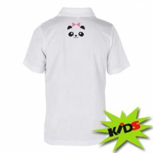 Children's Polo shirts Panda girl - PrintSalon