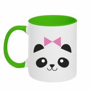 Kubek dwukolorowy Panda girl