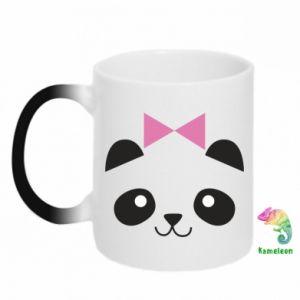 Chameleon mugs Panda girl - PrintSalon