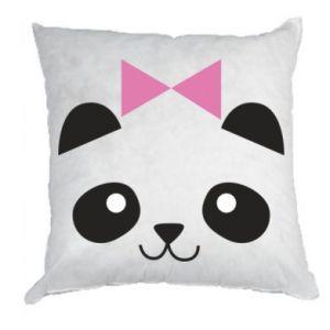 Pillow Panda girl - PrintSalon
