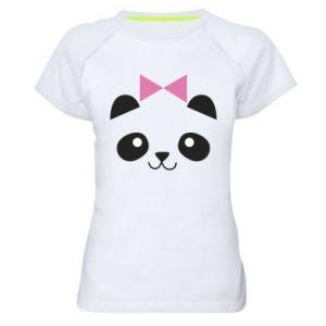 Women's sports t-shirt Panda girl - PrintSalon