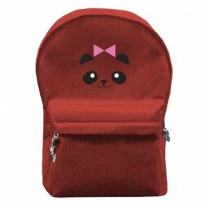 Backpack with front pocket Panda girl - PrintSalon