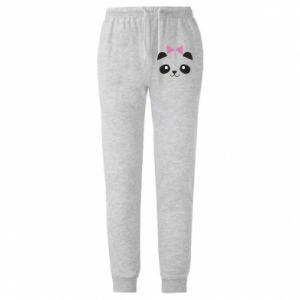 Męskie spodnie lekkie Panda girl - PrintSalon