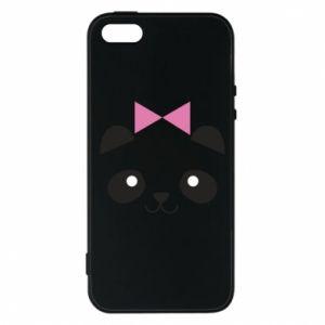 Phone case for iPhone 5/5S/SE Panda girl - PrintSalon
