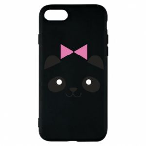 Phone case for iPhone 7 Panda girl - PrintSalon