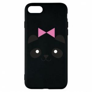 Phone case for iPhone 8 Panda girl - PrintSalon