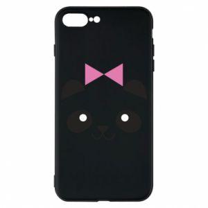 Phone case for iPhone 8 Plus Panda girl - PrintSalon