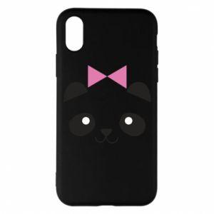 Phone case for iPhone X/Xs Panda girl - PrintSalon