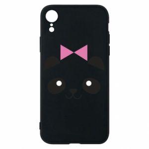 Phone case for iPhone XR Panda girl - PrintSalon