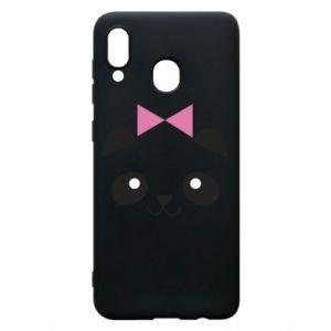 Phone case for Samsung A20 Panda girl - PrintSalon