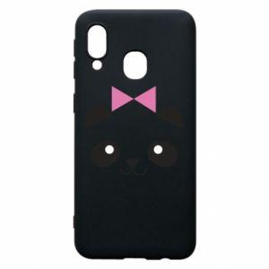 Phone case for Samsung A40 Panda girl - PrintSalon