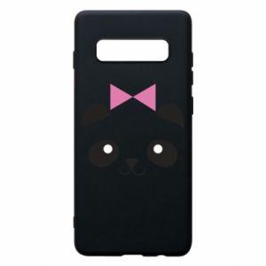 Phone case for Samsung S10+ Panda girl - PrintSalon