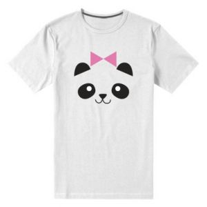 Men's premium t-shirt Panda girl