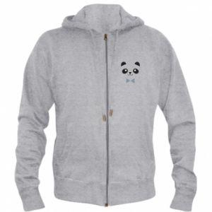 Men's zip up hoodie Panda guy - PrintSalon