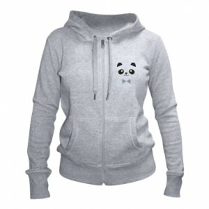 Women's zip up hoodies Panda guy - PrintSalon