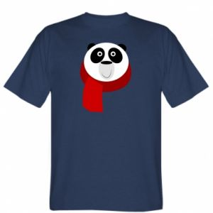 T-shirt Panda in a color scarf - PrintSalon
