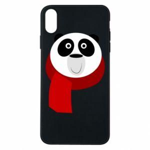 Etui na iPhone Xs Max Panda in a color scarf