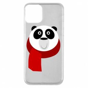 Etui na iPhone 11 Panda in a color scarf