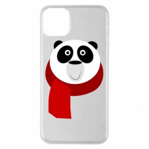 Etui na iPhone 11 Pro Max Panda in a color scarf
