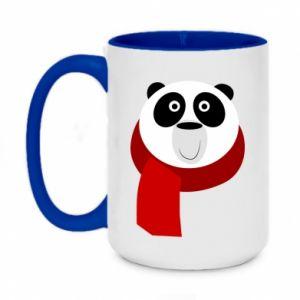 Kubek dwukolorowy 450ml Panda in a color scarf