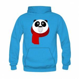 Bluza z kapturem dziecięca Panda in a color scarf