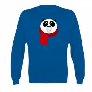 Bluza dziecięca Panda in a color scarf
