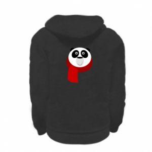 Bluza na zamek dziecięca Panda in a color scarf